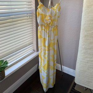 Beautiful, Loft, Maxi Dress. Yellow/White flowers.